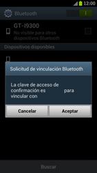 Samsung I9300 Galaxy S III - Bluetooth - Conectar dispositivos a través de Bluetooth - Paso 7