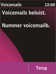 Nokia C2-03 - Voicemail - handmatig instellen - Stap 6