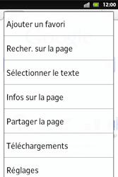 Sony ST27i Xperia Go - Internet - Navigation sur Internet - Étape 6