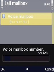 Nokia N86 - Voicemail - Manual configuration - Step 5