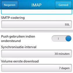 BlackBerry Q5 - E-mail - Account instellen (IMAP zonder SMTP-verificatie) - Stap 15
