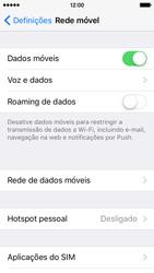Apple iPhone 5s iOS 9 - Internet no telemóvel - Partilhar os dados móveis -  4