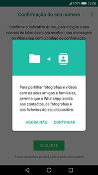 Huawei Mate 9 - Aplicações - Como configurar o WhatsApp -  6