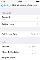 Apple iPhone 4s iOS 8 - Email - Manual configuration POP3 with SMTP verification - Step 16