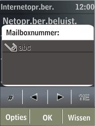 Nokia X3-02 - Voicemail - handmatig instellen - Stap 8
