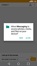 LG K10 2017 - Mms - Sending a picture message - Step 14