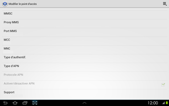Samsung P5100 Galaxy Tab 2 10-1 - Internet - configuration manuelle - Étape 14