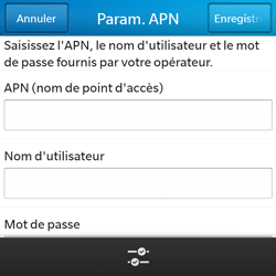 BlackBerry Q5 - Internet - configuration manuelle - Étape 9