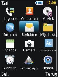 Samsung C3350 Xcover 2 - Voicemail - Handmatig instellen - Stap 3