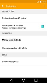 LG G4 - SMS - Como configurar o centro de mensagens -  6