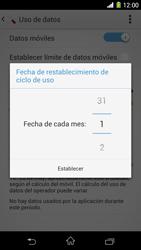Sony Xperia Z1 - Internet - Ver uso de datos - Paso 7