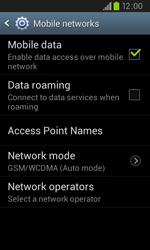 Samsung I9105P Galaxy S II Plus - Network - Usage across the border - Step 6