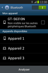 Samsung S6310 Galaxy Young - Bluetooth - connexion Bluetooth - Étape 8