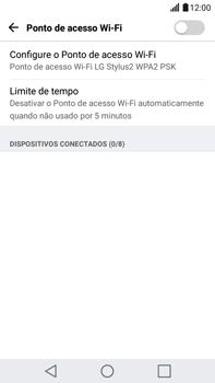 LG G5 Stylus - Wi-Fi - Como usar seu aparelho como um roteador de rede wi-fi - Etapa 8