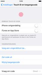 Apple iPhone 6 met iOS 9 (Model A1586) - Beveiliging en ouderlijk toezicht - Toegangscode instellen - Stap 13