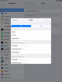 Apple ipad-pro-10-5-inch-ios-12 - E-mail - Account instellen (POP3 zonder SMTP-verificatie) - Stap 10