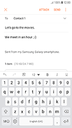 Samsung Galaxy J5 (2017) - E-mail - Sending emails - Step 17
