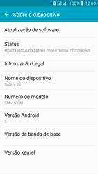 Samsung Galaxy J5 - Primeiros passos - Como encontrar o número de IMEI do seu aparelho - Etapa 4