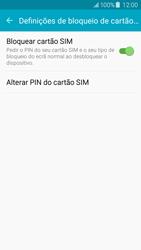 Samsung Galaxy J5 - Segurança - Como ativar o código PIN do cartão de telemóvel -  9