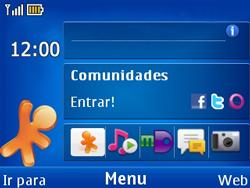 Nokia X2-01 - Internet - Como configurar seu celular para navegar através de Vivo Internet - Etapa 1