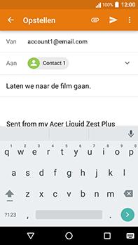 Acer Liquid Zest 4G Plus - E-mail - E-mails verzenden - Stap 8