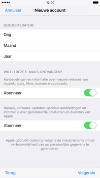 Apple iphone 6 plus met ios 10 model a1524 - Applicaties - Account aanmaken - Stap 17