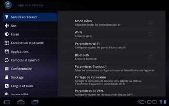 Huawei Mediapad S7-301u - Réseau - Utilisation à l