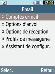 Samsung C3590 - E-mails - Ajouter ou modifier un compte e-mail - Étape 6