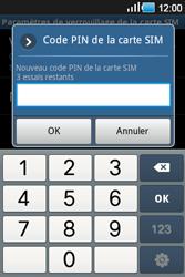 Samsung Galaxy Ace - Sécuriser votre mobile - Personnaliser le code PIN de votre carte SIM - Étape 8
