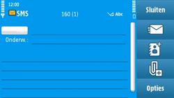 Nokia N97 - MMS - afbeeldingen verzenden - Stap 9