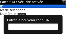 BlackBerry curve 3G - Sécuriser votre mobile - Personnaliser le code PIN de votre carte SIM - Étape 9
