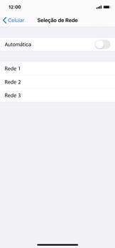 Apple iPhone X - iOS 13 - Rede móvel - Como selecionar o tipo de rede adequada - Etapa 6