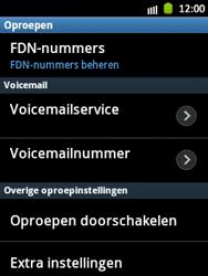 Samsung S5300 Galaxy Pocket - Voicemail - handmatig instellen - Stap 5