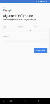 Samsung Galaxy S8+ - Android Oreo (SM-G955F) - Applicaties - Account aanmaken - Stap 9