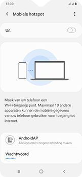 Samsung galaxy-a20e-dual-sim-sm-a202f - WiFi - Mobiele hotspot instellen - Stap 11