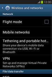 Samsung S6810P Galaxy Fame - Internet - Enable or disable - Step 5