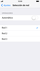 Apple iPhone 5s - iOS 11 - Red - Seleccionar una red - Paso 7