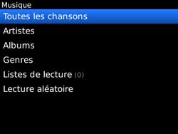 BlackBerry 8520 - Photos, vidéos, musique - Ecouter de la musique - Étape 5