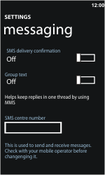 Nokia Lumia 800 - SMS - Manual configuration - Step 5