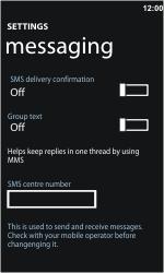 Nokia Lumia 800 - SMS - Manual configuration - Step 5
