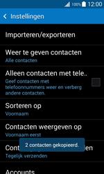 Samsung Galaxy Trend 2 Lite (SM-G318H) - Contacten en data - Contacten kopiëren van toestel naar SIM - Stap 12