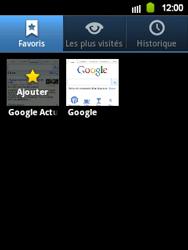 Samsung S5360 Galaxy Y - Internet - navigation sur Internet - Étape 8