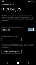 Microsoft Lumia 640 - Mensajería - Configurar el equipo para mensajes de texto - Paso 6