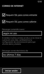 Nokia Lumia 635 - E-mail - Configurar correo electrónico - Paso 20