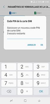 Samsung Galaxy A6 - Sécurité - modifier SIM PIN - Étape 10