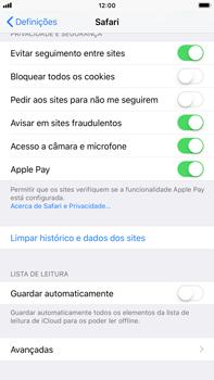 Apple iPhone 8 Plus - Dados - Como limpar cookies/cache/histórico -  4