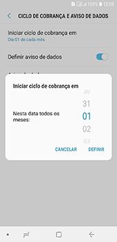 Samsung Galaxy J6 - Rede móvel - Como definir um aviso e limite de uso de dados - Etapa 8