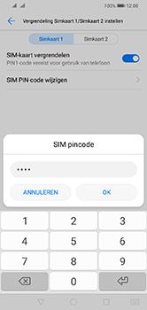 Huawei Y7 (2019) - Beveiliging - pas de pincode voor je simkaart aan - Stap 9