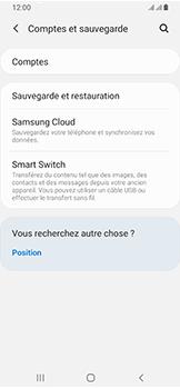 Samsung Galaxy A40 - Données - créer une sauvegarde avec votre compte - Étape 5