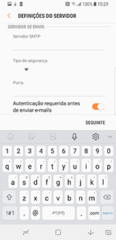 Samsung Galaxy S9 - Email - Configurar a conta de Email -  12